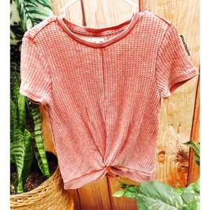 Casual knitted honey comb tee 🍃
